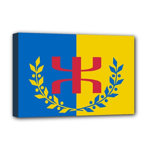 Flag Of Kabylie Region Deluxe Canvas 18  X 12  (stretched) by abbeyz71