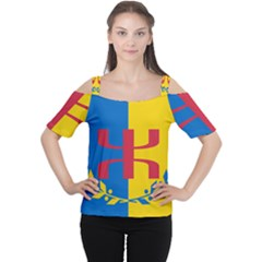 Flag Of Kabylie Region Cutout Shoulder Tee