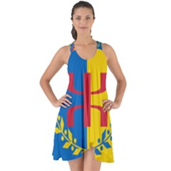 Flag Of Kabylie Region Show Some Back Chiffon Dress