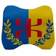 Flag Of Kabylie Region Velour Head Support Cushion