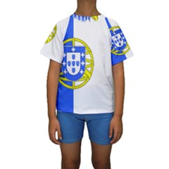 Proposed Flag Of Portugalicia Kids  Short Sleeve Swimwear