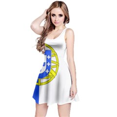 Proposed Flag Of Portugalicia Reversible Sleeveless Dress
