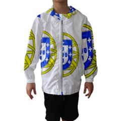 Proposed Flag Of Portugalicia Hooded Windbreaker (kids)