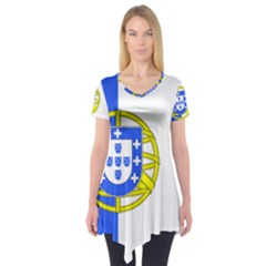 Proposed Flag Of Portugalicia Short Sleeve Tunic