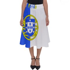 Proposed Flag Of Portugalicia Perfect Length Midi Skirt
