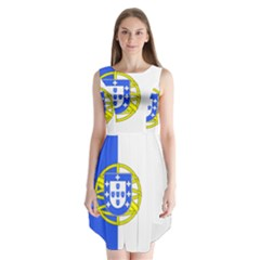 Proposed Flag Of Portugalicia Sleeveless Chiffon Dress
