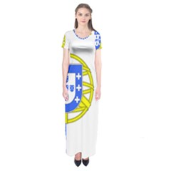Proposed Flag Of Portugalicia Short Sleeve Maxi Dress