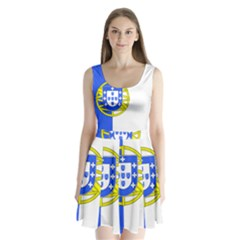 Proposed Flag Of Portugalicia Split Back Mini Dress