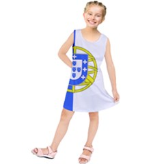 Proposed Flag Of Portugalicia Kids  Tunic Dress