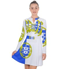 Proposed Flag Of Portugalicia Long Sleeve Panel Dress