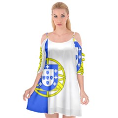 Proposed Flag Of Portugalicia Cutout Spaghetti Strap Chiffon Dress