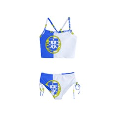 Proposed Flag Of Portugalicia Girls  Tankini Swimsuit