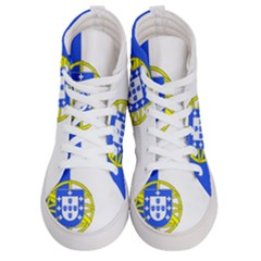 Proposed Flag Of Portugalicia Women s Hi Top Skate Sneakers