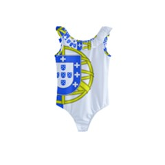 Proposed Flag Of Portugalicia Kids  Frill Swimsuit