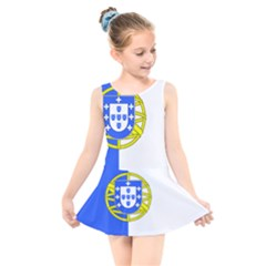 Proposed Flag Of Portugalicia Kids  Skater Dress Swimsuit