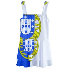 Proposed Flag Of Portugalicia Kids  Layered Skirt Swimsuit