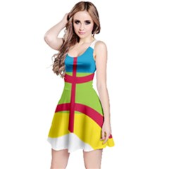 Kabylie Flag Map Reversible Sleeveless Dress