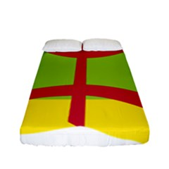 Kabylie Flag Map Fitted Sheet (full/ Double Size)