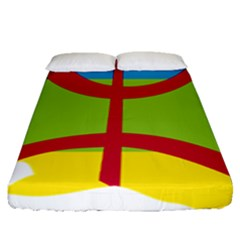 Kabylie Flag Map Fitted Sheet (queen Size)