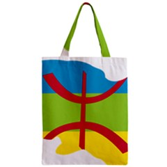 Kabylie Flag Map Zipper Classic Tote Bag