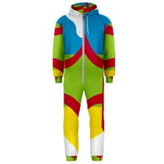 Kabylie Flag Map Hooded Jumpsuit (men)