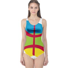 Kabylie Flag Map One Piece Swimsuit