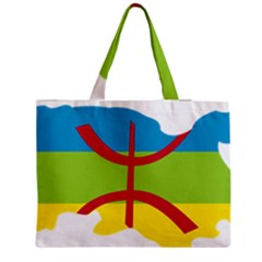 Kabylie Flag Map Zipper Medium Tote Bag