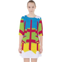 Kabylie Flag Map Pocket Dress