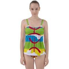 Kabylie Flag Map Twist Front Tankini Set