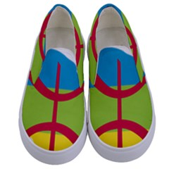 Kabylie Flag Map Kids  Canvas Slip Ons