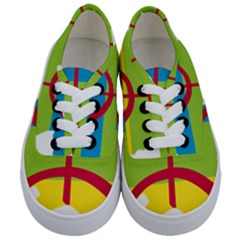 Kabylie Flag Map Kids  Classic Low Top Sneakers