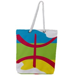 Kabylie Flag Map Full Print Rope Handle Tote (large)