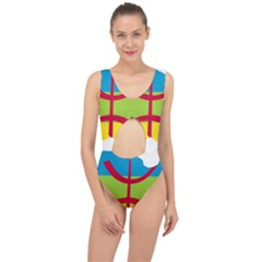 Kabylie Flag Map Center Cut Out Swimsuit