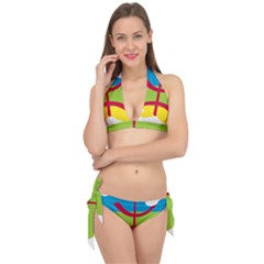 Kabylie Flag Map Tie It Up Bikini Set