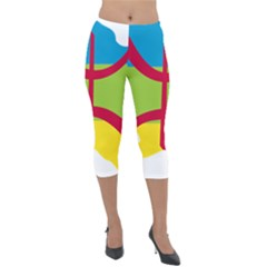 Kabylie Flag Map Lightweight Velour Capri Leggings
