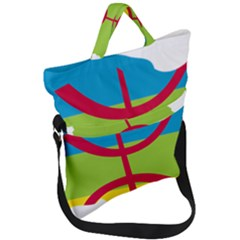Kabylie Flag Map Fold Over Handle Tote Bag