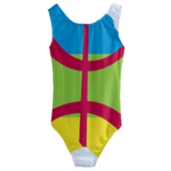 Kabylie Flag Map Kids  Cut Out Back One Piece Swimsuit