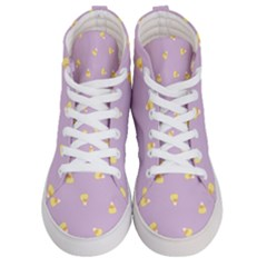 Candy Corn (purple) Women s Hi Top Skate Sneakers