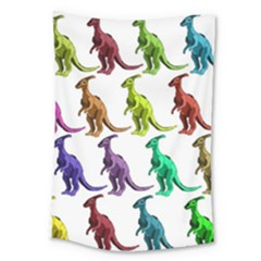 Multicolor Dinosaur Background Large Tapestry