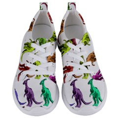 Multicolor Dinosaur Background Women s Lightweight Sports Shoes