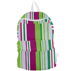 Beautiful Multi Colored Bright Stripes Pattern Wallpaper Background Foldable Lightweight Backpack