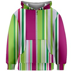 Beautiful Multi Colored Bright Stripes Pattern Wallpaper Background Kids Zipper Hoodie Without Drawstring