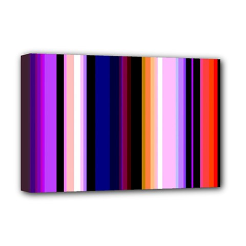 Fun Striped Background Design Pattern Deluxe Canvas 18  X 12  (stretched) by Jojostore