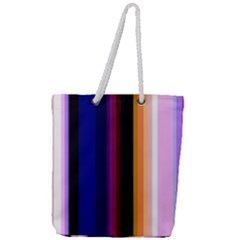 Fun Striped Background Design Pattern Full Print Rope Handle Tote (large) by Jojostore