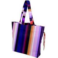 Fun Striped Background Design Pattern Drawstring Tote Bag by Jojostore
