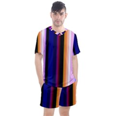 Fun Striped Background Design Pattern Men s Mesh Tee And Shorts Set by Jojostore