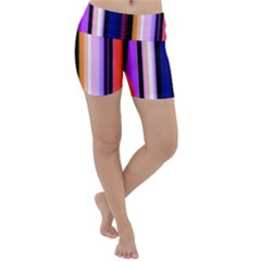 Fun Striped Background Design Pattern Lightweight Velour Yoga Shorts