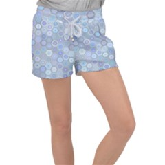Bee Hive Background Women s Velour Lounge Shorts
