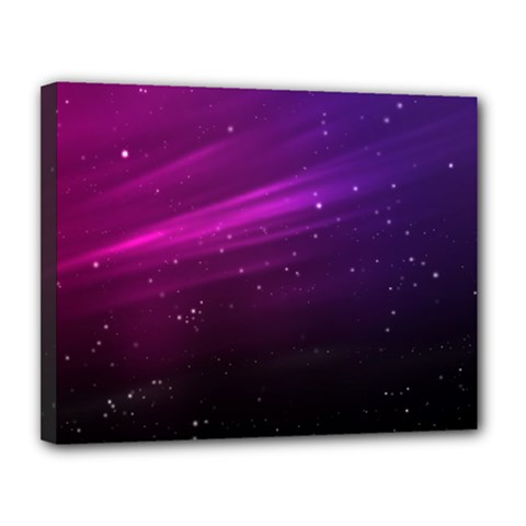 Purple Wallpaper Canvas 14  X 11  (stretched)