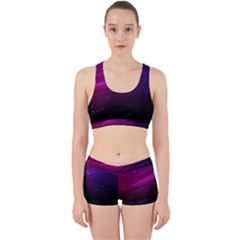Purple Wallpaper Work It Out Gym Set
